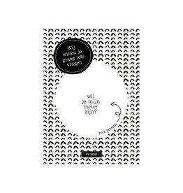 By romi By romi: kraskaart: Wij willen je graag iets vragen/ wil je mijn meter zijn?