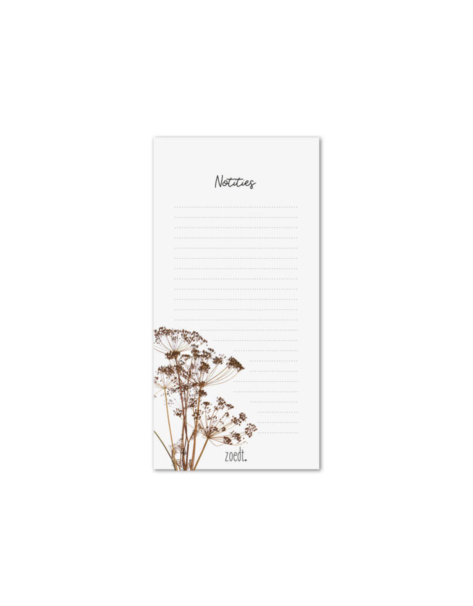 zoedt zoedt notitieblok droogbloemen