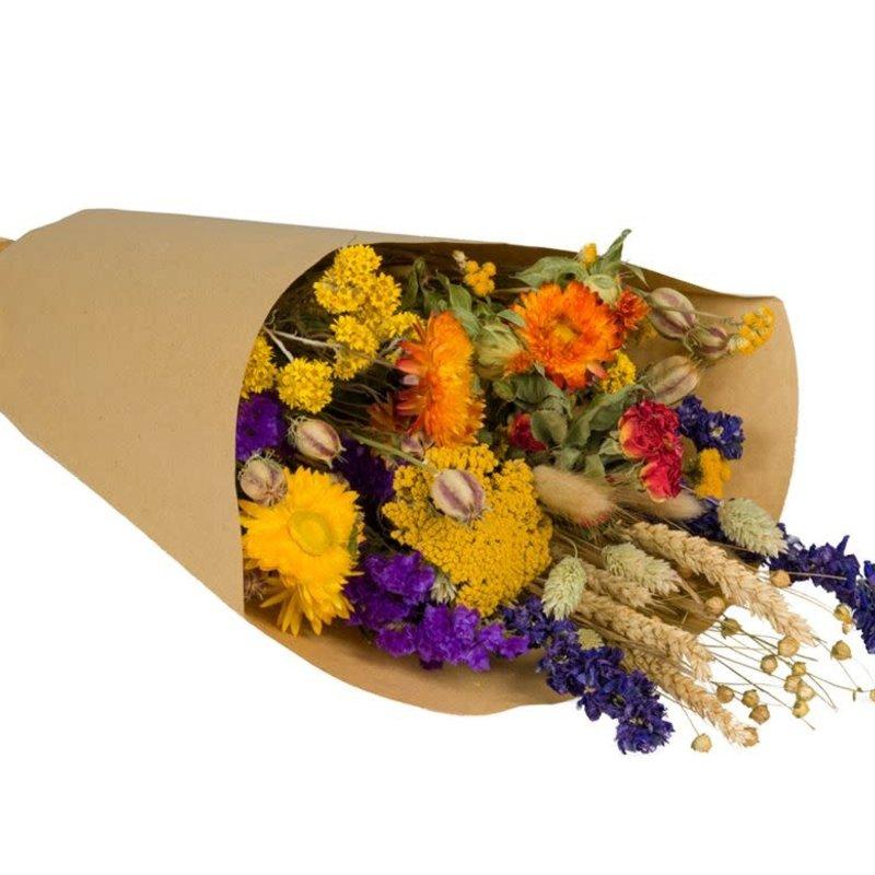 Wild Flowers by Floriëtte: droogbloemen field bouquet L orange