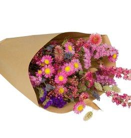 Wild Flowers by Floriëtte: droogbloemen field bouquet L pink