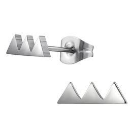 Precious jewels Precious jewels oorbellen zilverkleurig driehoekjes