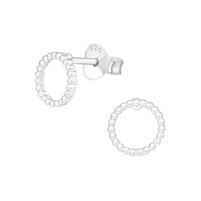Precious jewels precious jewels oorbellen cirkel bolletje zilverkleurig