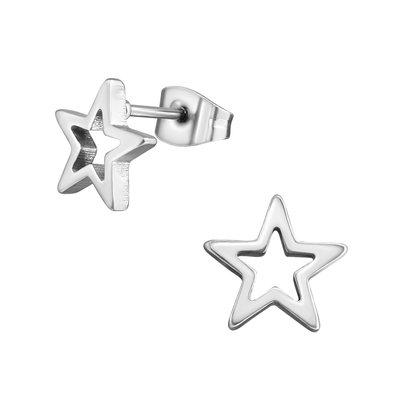 Precious jewels precious jewels oorstekers zilverkleurig sterren open