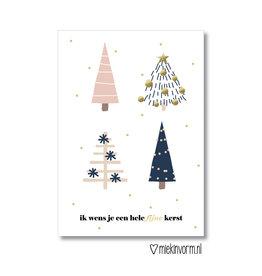 Miek in vorm kaart a6 miek in vorm: ik wens je een hele fijne kerst