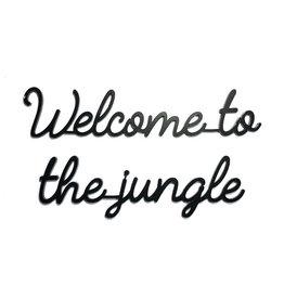Goegezegd Goegezegd muursticker a5 zwart Welcome to the jungle