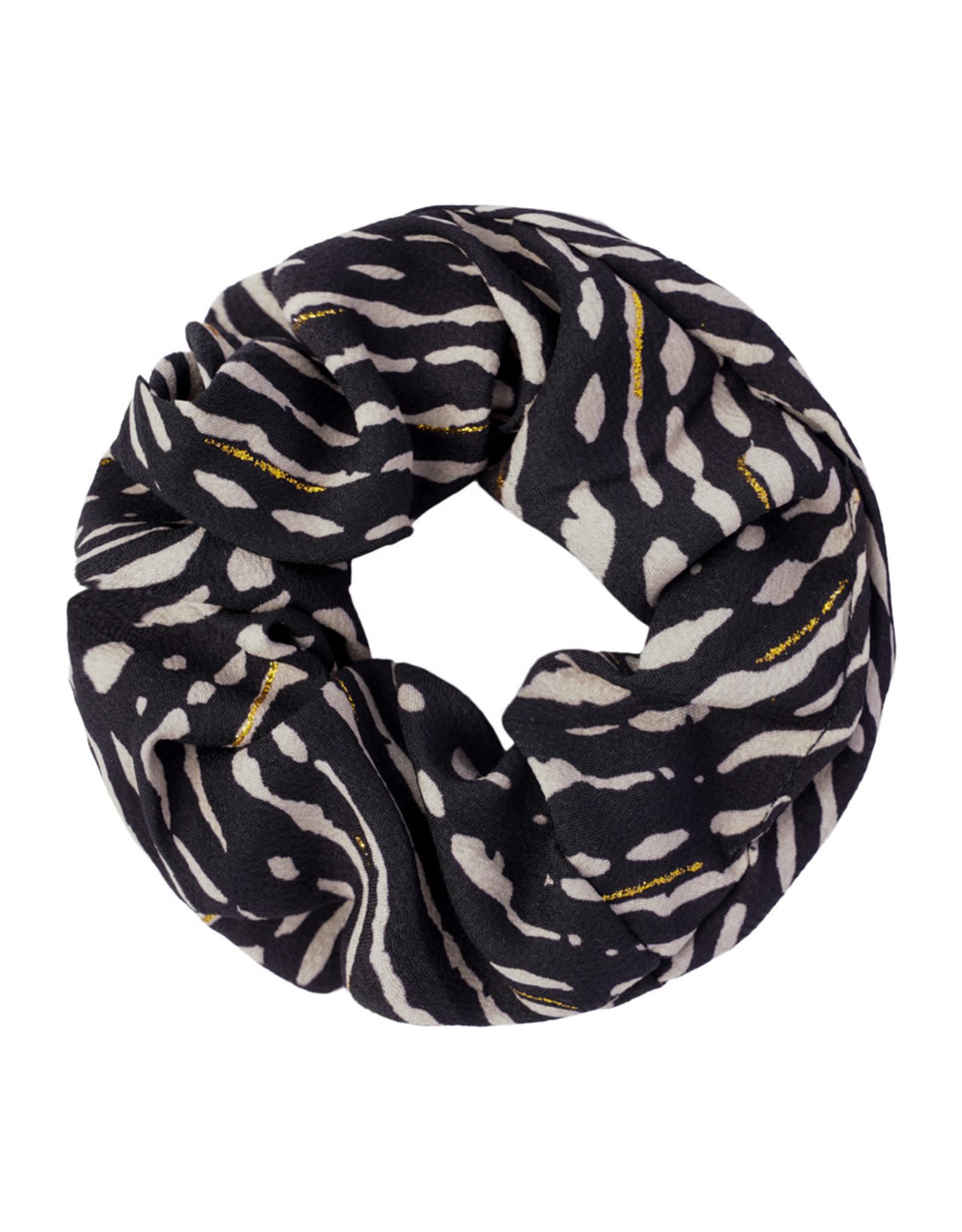 Musthaves Scrunchie animal fever 05 zwart