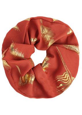 Yehwang Scrunchie roest pluimen