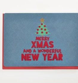 Enfant Terrible Dubbele wenskaart Enfant terrible: merry xmas and a wonderful new year