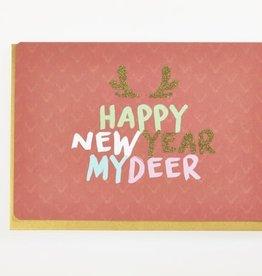 Enfant Terrible Dubbele wenskaart Enfant terrible: happy new year my deer