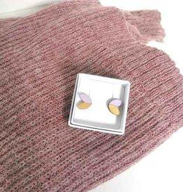 mona lisa juwelen Mona Lisa Juwelen Hout - oorbellen » Lila - Leaf klein