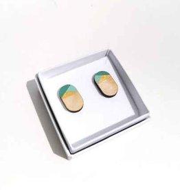 mona lisa juwelen Mona Lisa Juwelen Hout - oorbellen » Mint - mini oval