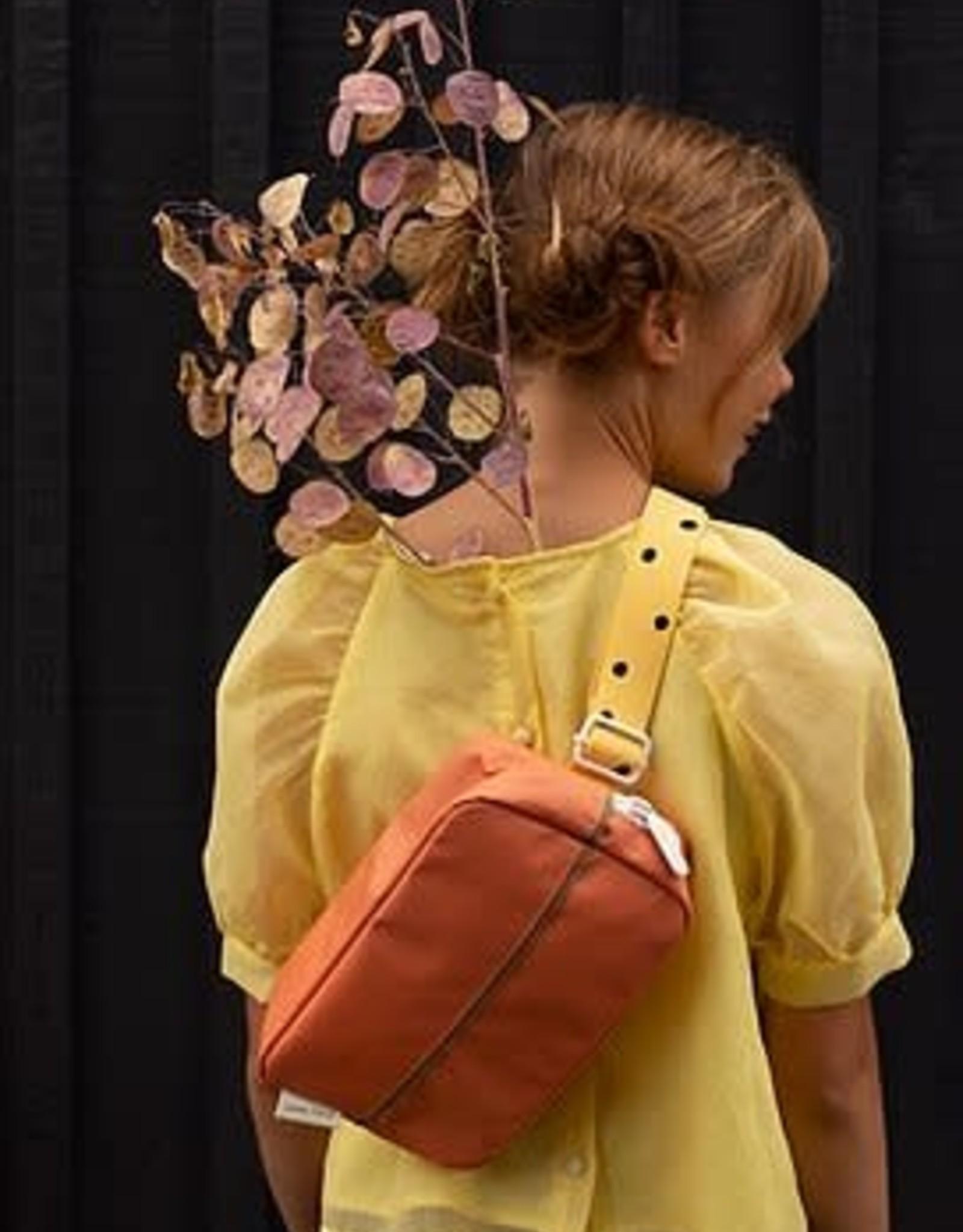 Stick lemon Sticky lemon Fanny pack large freckles candy pink + carrot orange + sunny yellow