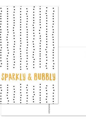 Hofje van Kieka kaart a6 Hofje van Kieka Be sparkly & bubbly