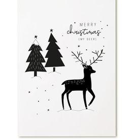 zoedt kaart a6 Zoedt: merry christmas my deer