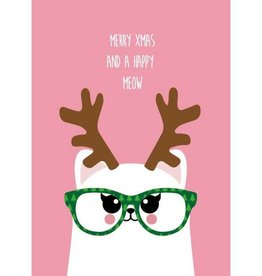studio inktvis kaart a6 studio inktvis:  merry Xmas and a happy meow