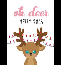 studio inktvis kaart a6 studio inktvis:  oh deer merry Xmas