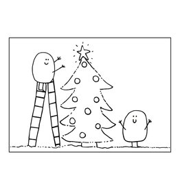 """made by ellen Made by ellen kaartje a6 """"Blopje"""" by Lore kerstboom"""