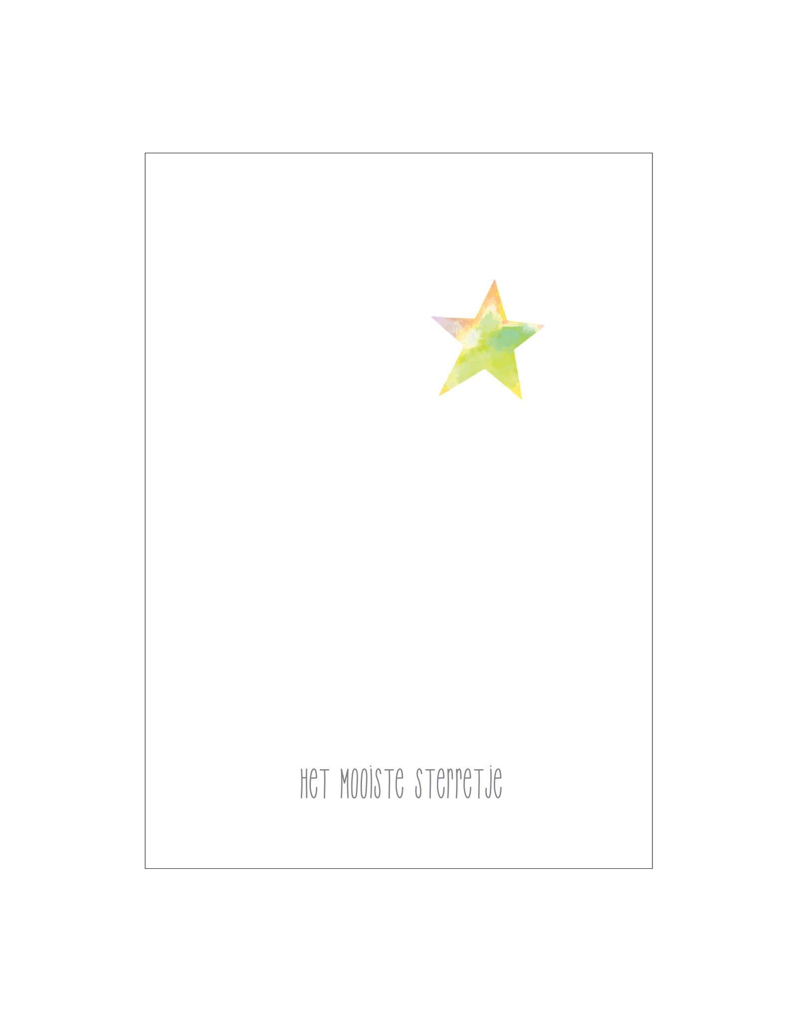 made by ellen Made by ellen kaartje a6 het mooiste sterretje