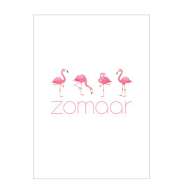 made by ellen Made by ellen kaartje a6 zomaar flamingo
