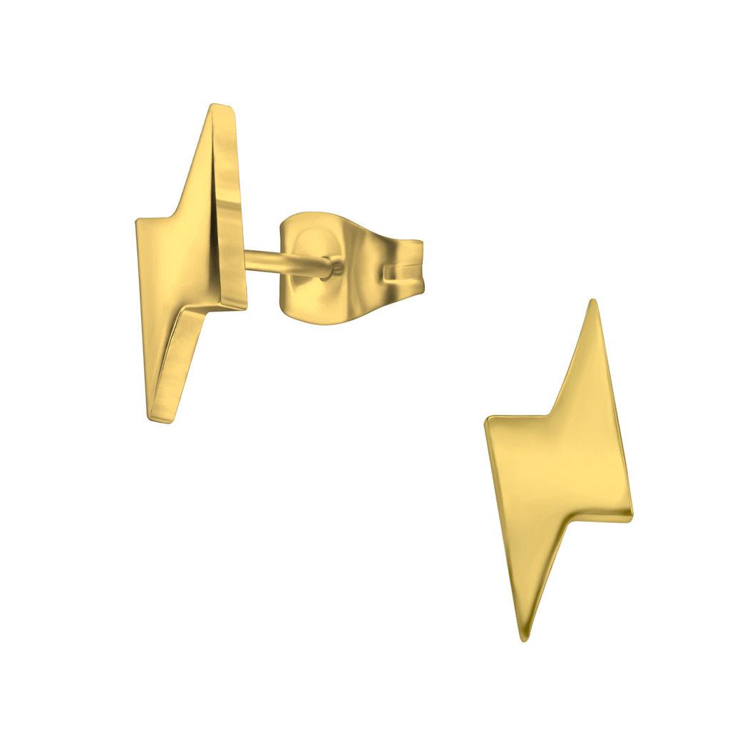 precious jewels oorstekers bliksem goud