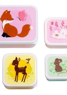 A little lovely company ALLC lunch & snackbox set: bosvriendjes
