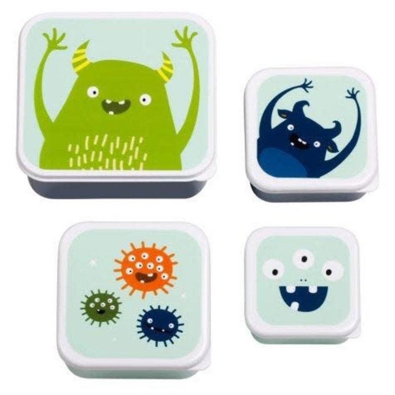 A little lovely company ALLC lunch & snackbox set: monsters