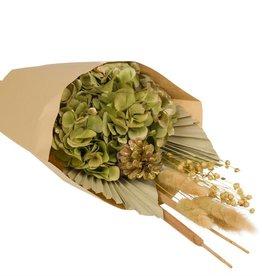 Wildflowers by floriëtte WbF:  kerst Hydrangea Bouquet goud