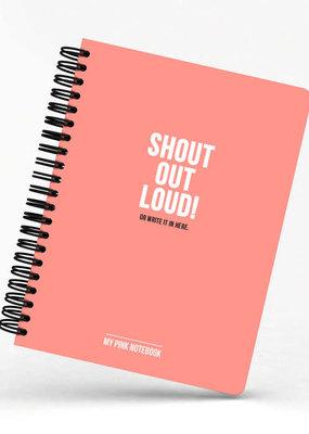 studio stationery Studio stationery: My Pink Notebook Shout out loud