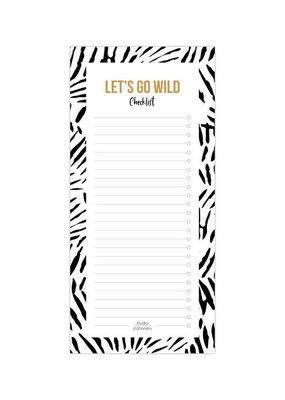 studio stationery Studio Stationery Noteblock Checklist Let's go wild Leaves