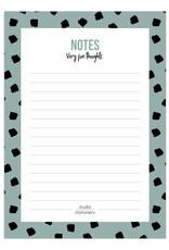 studio stationery Studio stationery A6 Noteblock Notes dots salie