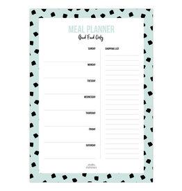 studio stationery Studio stationery A5 Noteblock Mealplanner Dots mint