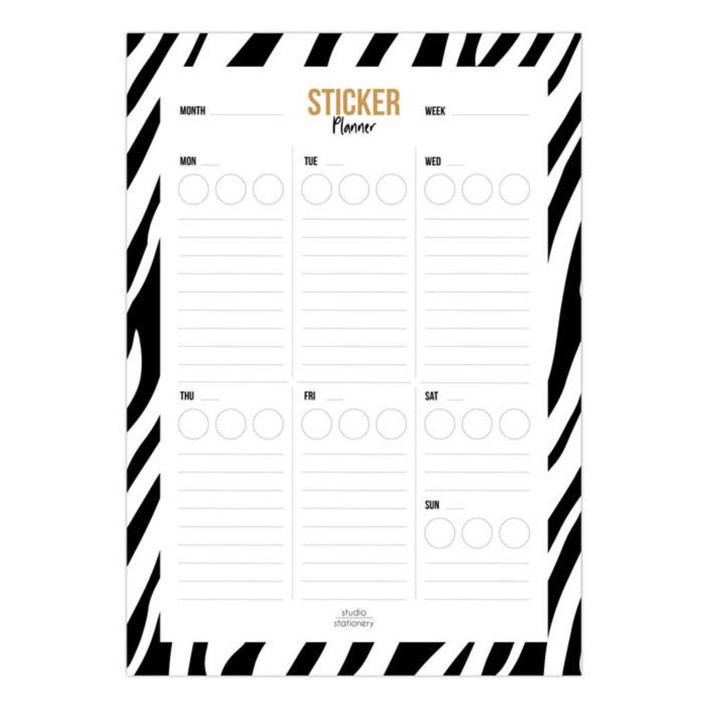 Studio stationery Studio stationery A5 Noteblock Sticker planner zebra