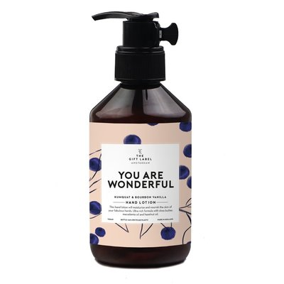 the gift label hand lotion 250 m - you are wonderful