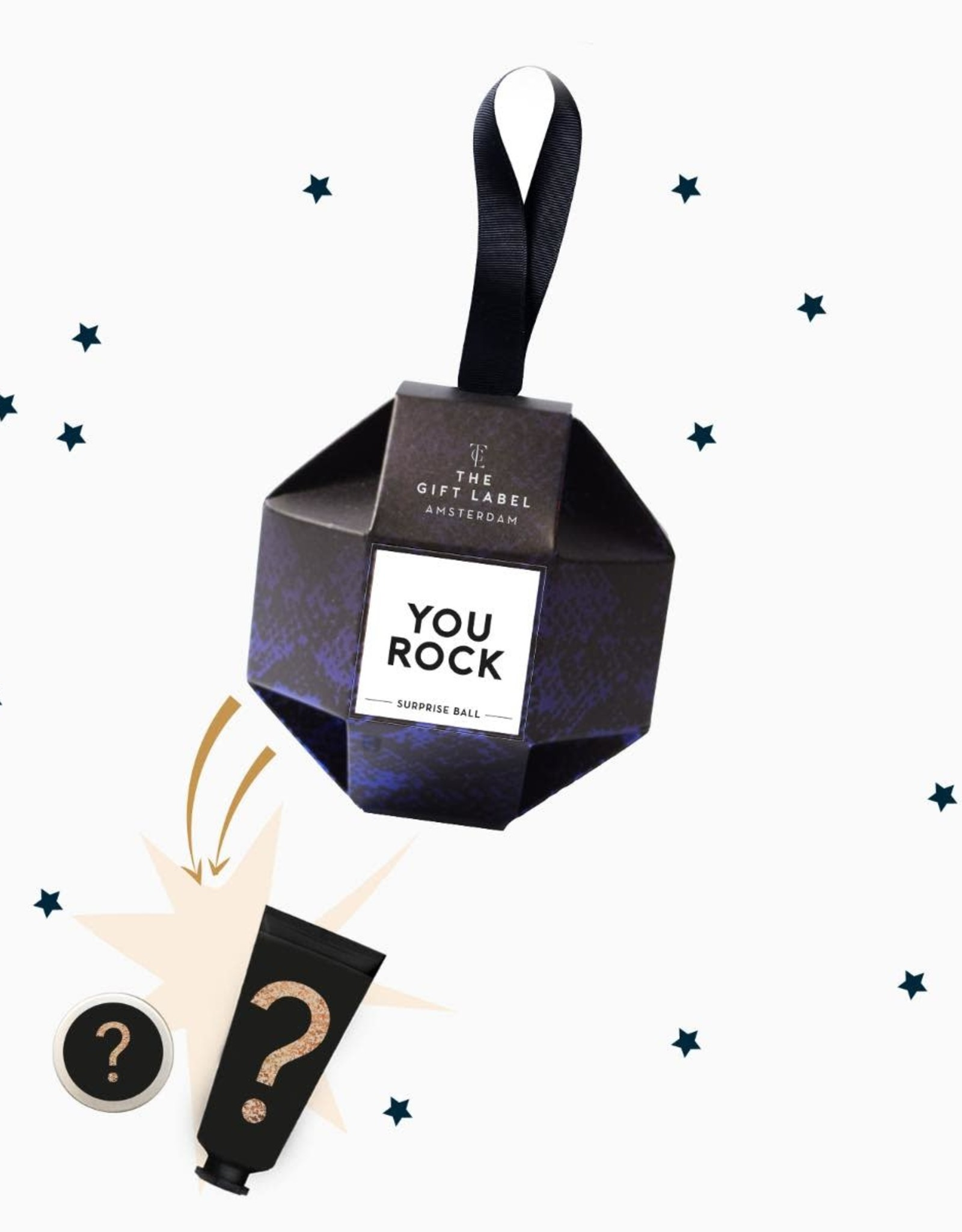 the gift label the gift label christmas ornament - you rock