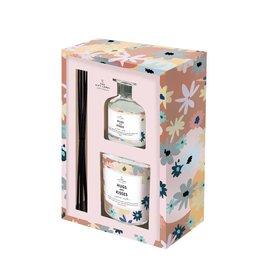 the gift label the gift label gift box - kaars en geurstokjes - hugs and kisses