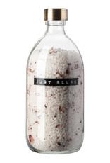 wellmark wellmark Badzout in glazen pot - rozen - messing 'Just relax'