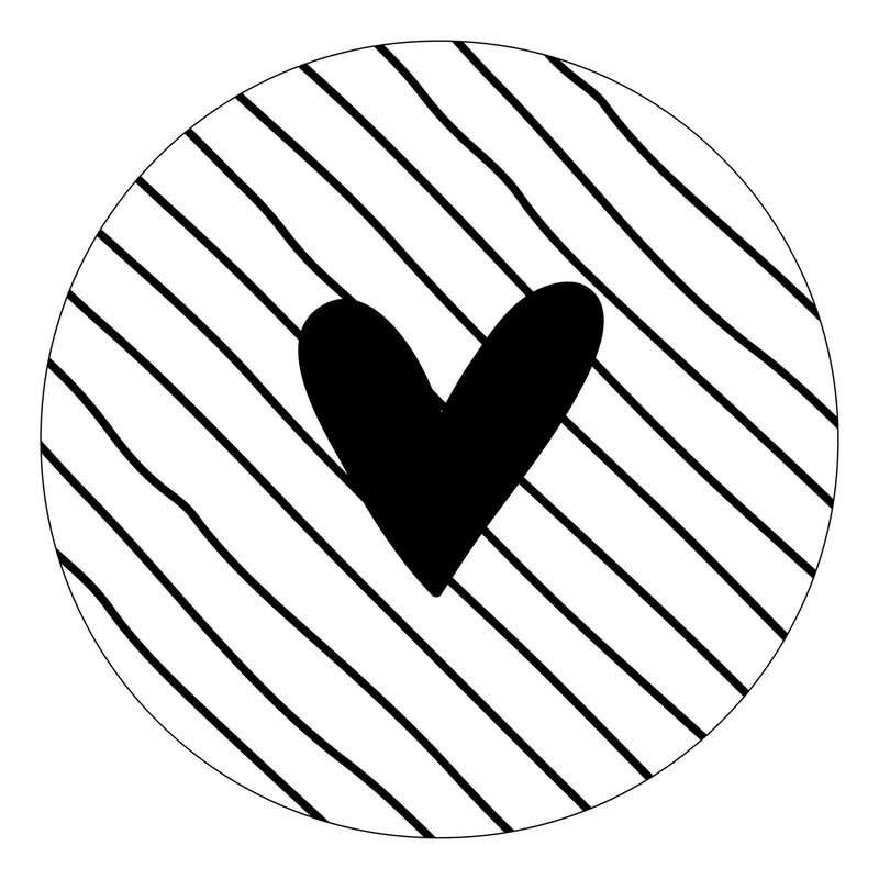 Zoedt zoedt muurcirkel 40 cm hart met strepen