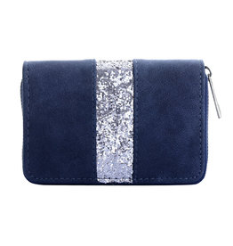 Yehwang Yehwang portemonnee one glitter line blauw
