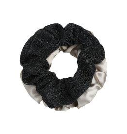 Yehwang Scrunchie 2 stuks grijze en zwart