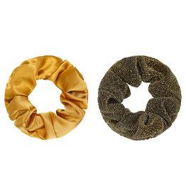 Yehwang Scrunchie 2 stuks oker/goud