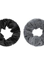 Yehwang Scrunchie 2 stuks zwart/zilver