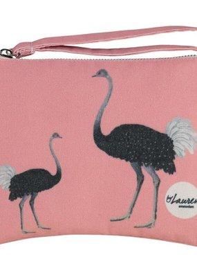 By lauren Amsterdam By Lauren Amsterdam ostrich party clutch