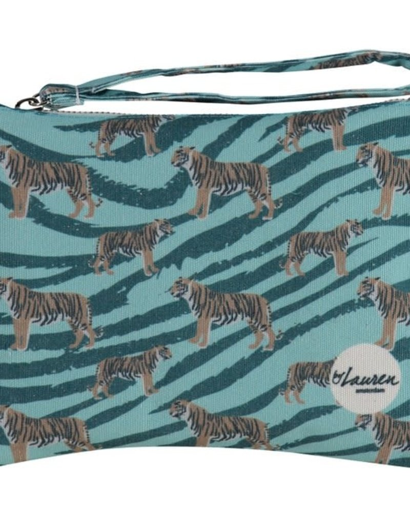By lauren Amsterdam By Lauren Amsterdam go get 'm tiger ocean green clutch