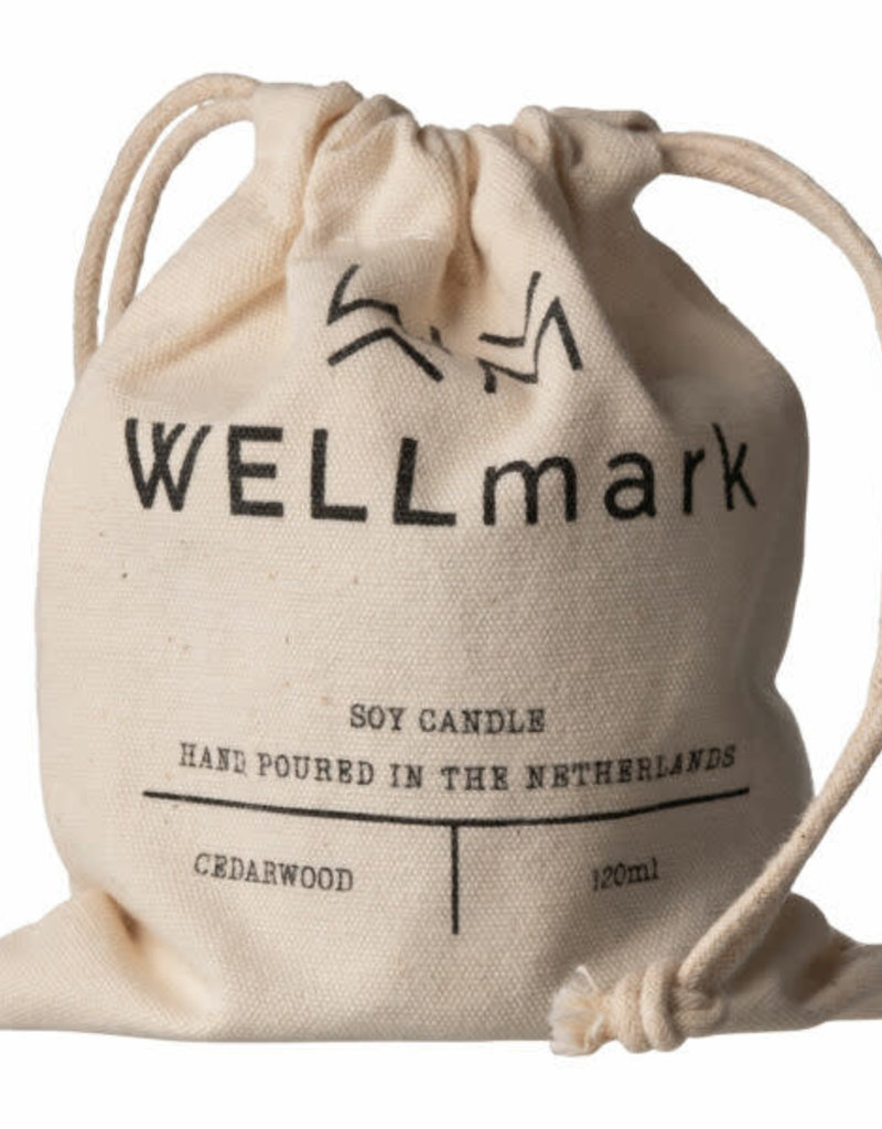 wellmark wellmark - geurkaars bruin glas - cedarwood - light my fire