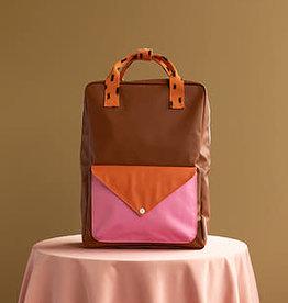 Sticky Lemon Sticky lemon Large backpack sprinkles envelope - syrup brown + carrot orange + bubbly pink