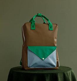 Sticky Lemon Sticky lemon Large backpack sprinkles envelope - brassy green + apple green + steel blue