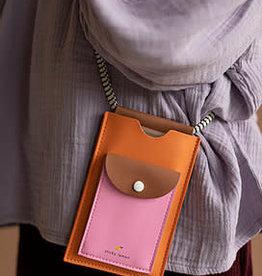 Sticky Lemon Sticky lemon Phone pouch - XL - carrot orange + syrup brown + bubbly pink