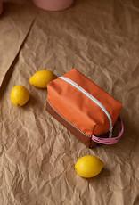 Sticky Lemon Sticky lemon toilettas  sprinkles - carrot orange + syrup brown + bubbly pink