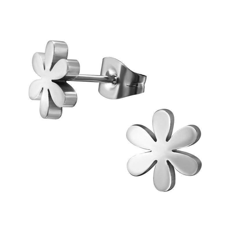 Precious jewels Precious jewels oorbellen bloemetjes zilverkleurig