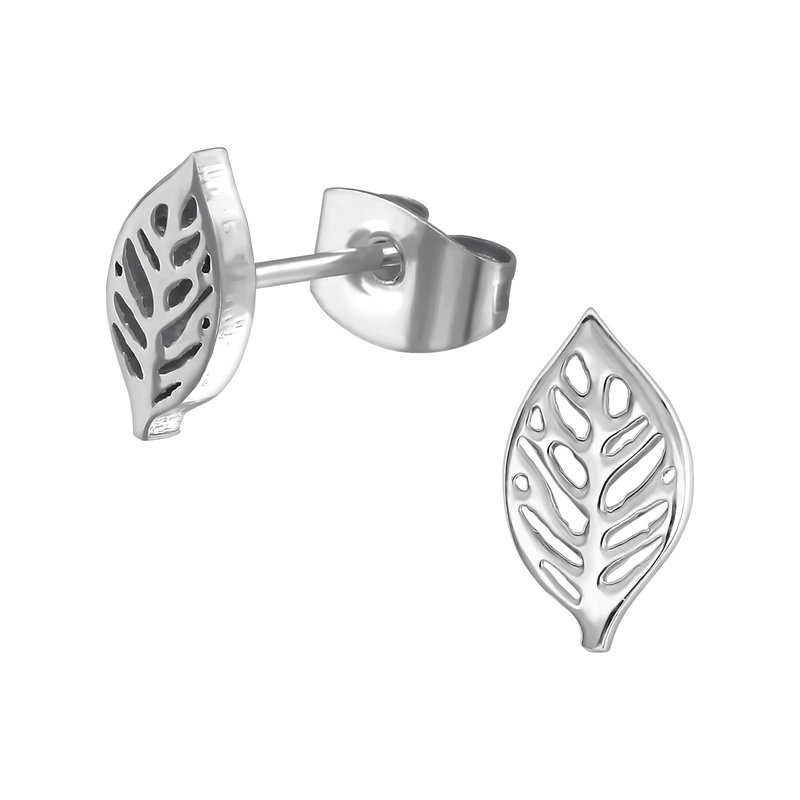 Precious jewels precious jewels oorbellen zilverkleurig blaadjes